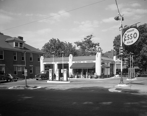 Bowle's Esso Service Station Raleigh NC 6.25.1941