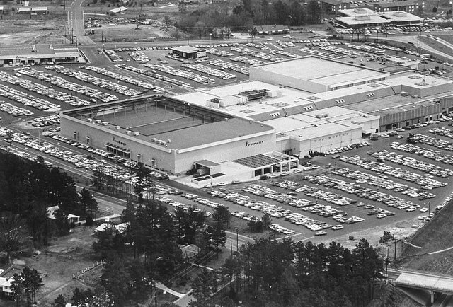 Aerial view North Hills mall 1970 - LuxuryMovers Real Estate