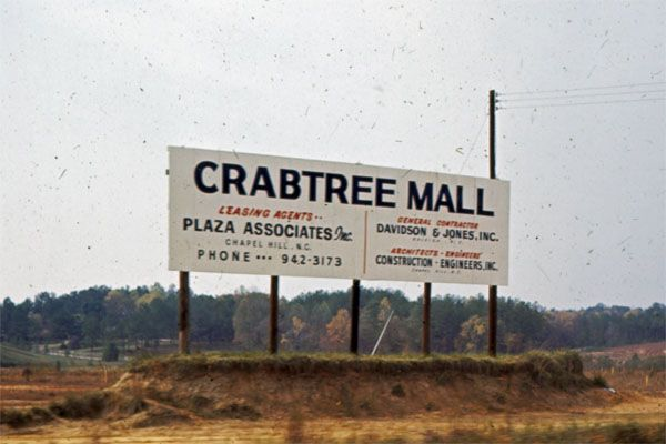 Crabtree Mall billboard sign 1968 - LuxuryMovers Real Estate