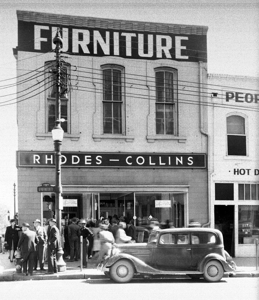 Rhodes Furniture building 301 S. Wilmington St. 1945 - NC State Archives