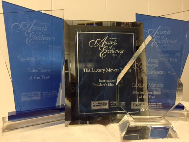 Your LuxuryMovers Team 2016 awards - Raleigh NC Real Estate