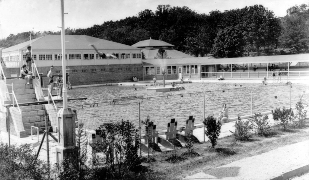 Pullen Park pool 1930's - Your LuxuryMovers Real Estate team Raleigh NC