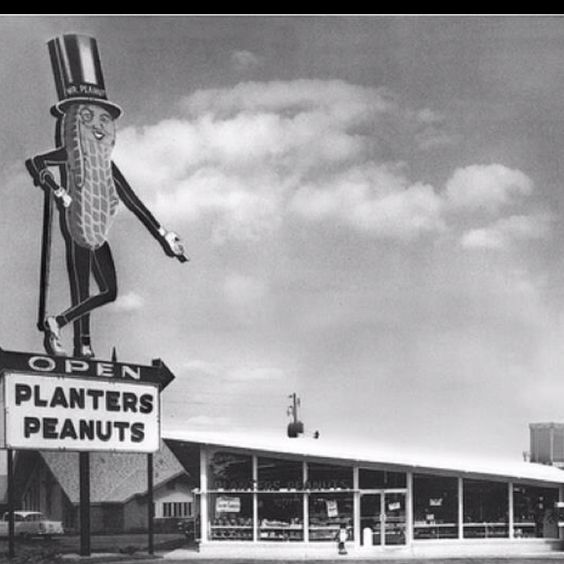 Plantars Peanut Shop Raleigh NC 1960s - Your LuxuryMovers Real Estate