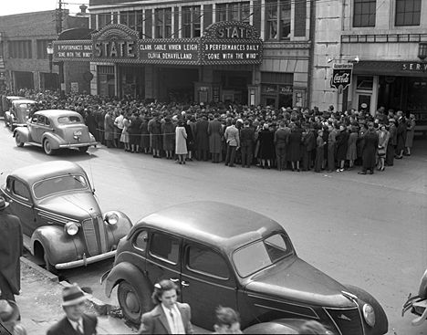 Crowd at the State Theater Raleigh NC Feb 1940 - Your LuxuryMovers Real Estate Team